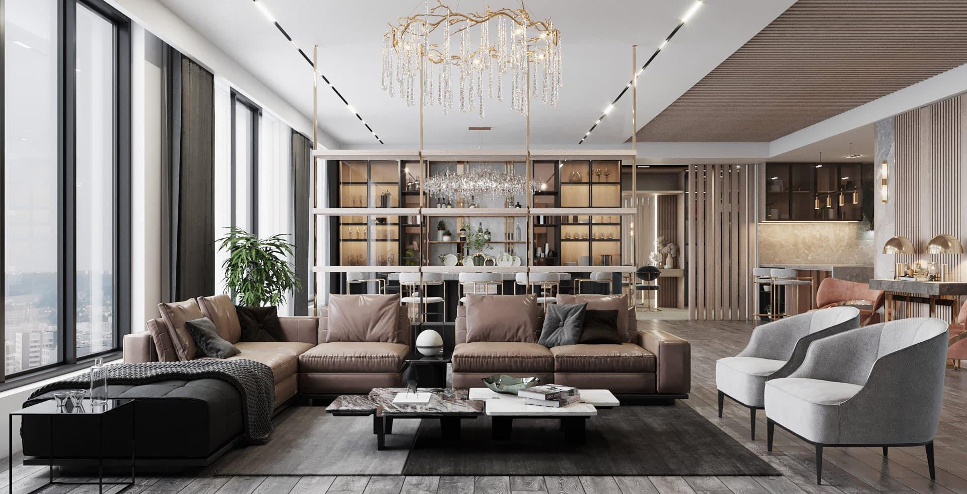 Thiết kế thi công nội thất căn hộ, nhà phố, villa