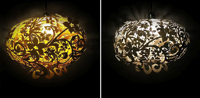 Với mỗi màu sắc của chiếc đèn ta lại cảm nhận được một phong cách khác nhau. Vàng quý phái, bạc trang nhã.