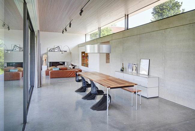 Để phù hợp với cuộc sống của nhiều gia đình, phong cách thiết kế phòng ăn thường theo hướng hiện đại.