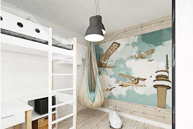 Bạn có thể sử dụng khéo léo màu sắc để tạo điểm nhấn cho bức tường phụ kiện, hoặc các sản phẩm nội thất trong phòng trẻ.