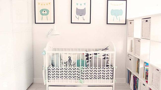 Bạn cũng đừng bỏ qua việc sử dụng họa tiết giúp mang đến vẻ sinh động, thu hút hơn cho không gian phòng trẻ.