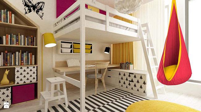 Những sản phẩm nội thất từ chất liệu gỗ tự nhiên luôn là lựa chọn hàng đầu cho không gian phòng trẻ nhỏ.