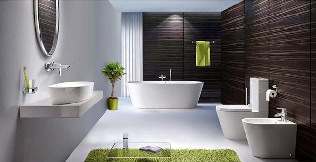 Đối với những gia chủ có điều kiện sở hữu phòng tắm có diện tích lớn, bồn tắm luôn là sự lựa chọn hàng đầu