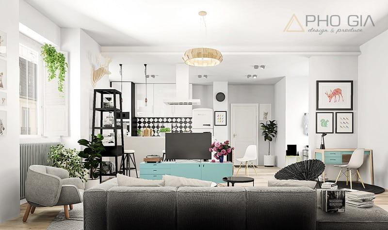 Thiết kế nội thất chung cư Vinhomes phong cách Scandinavian