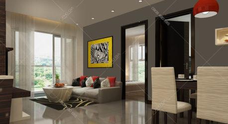 Mẫu thiết kế thi công căn hộ 92m2
