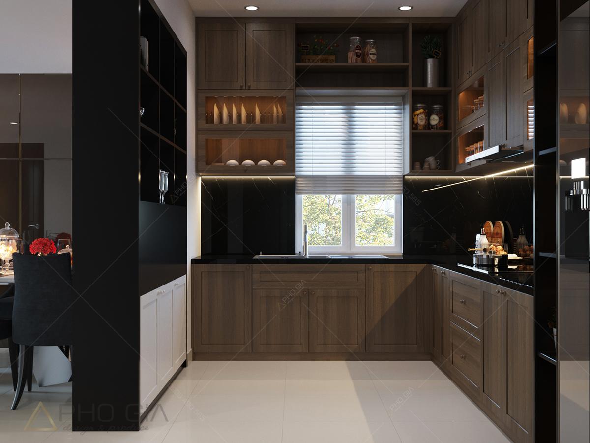 thiết kế nội thất can hộ phòng bếp đẹp chung cư xi grandcourt