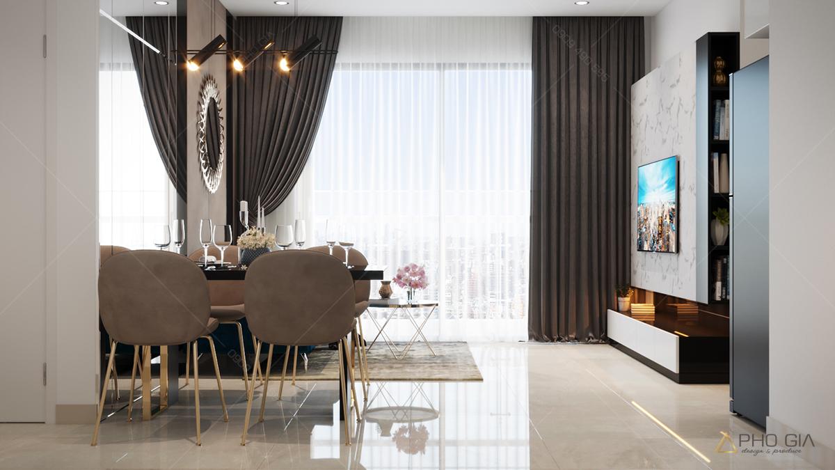 thiết kế nội thất căn hộ chung cư xi grandcourt