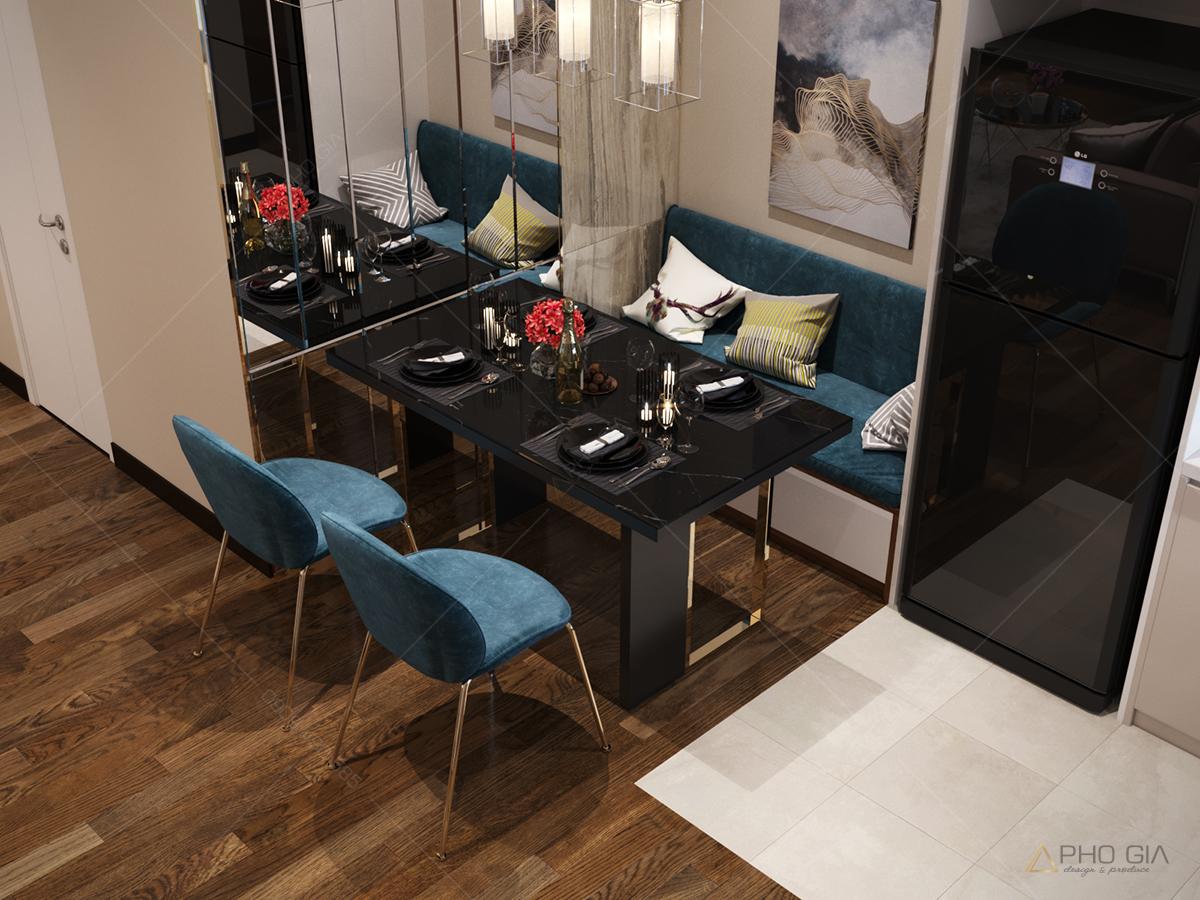 thiết kế nội thất chung cư xi grandcourt quận 10