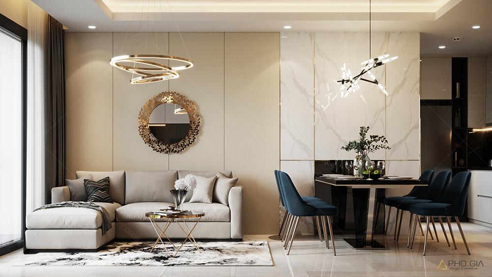 Thiết kế nội thất phòng ăncăn hộ chung cưXi Grand Court