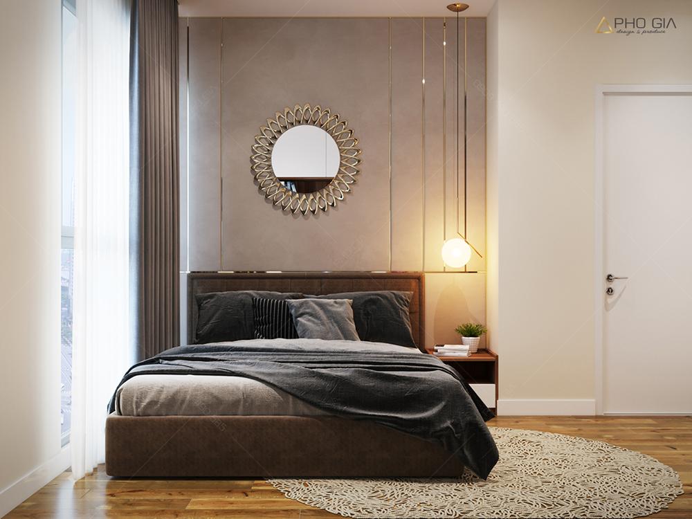 Thiết kế nội thất phòng ngủ mastercăn hộ chung cưXi Grand Court
