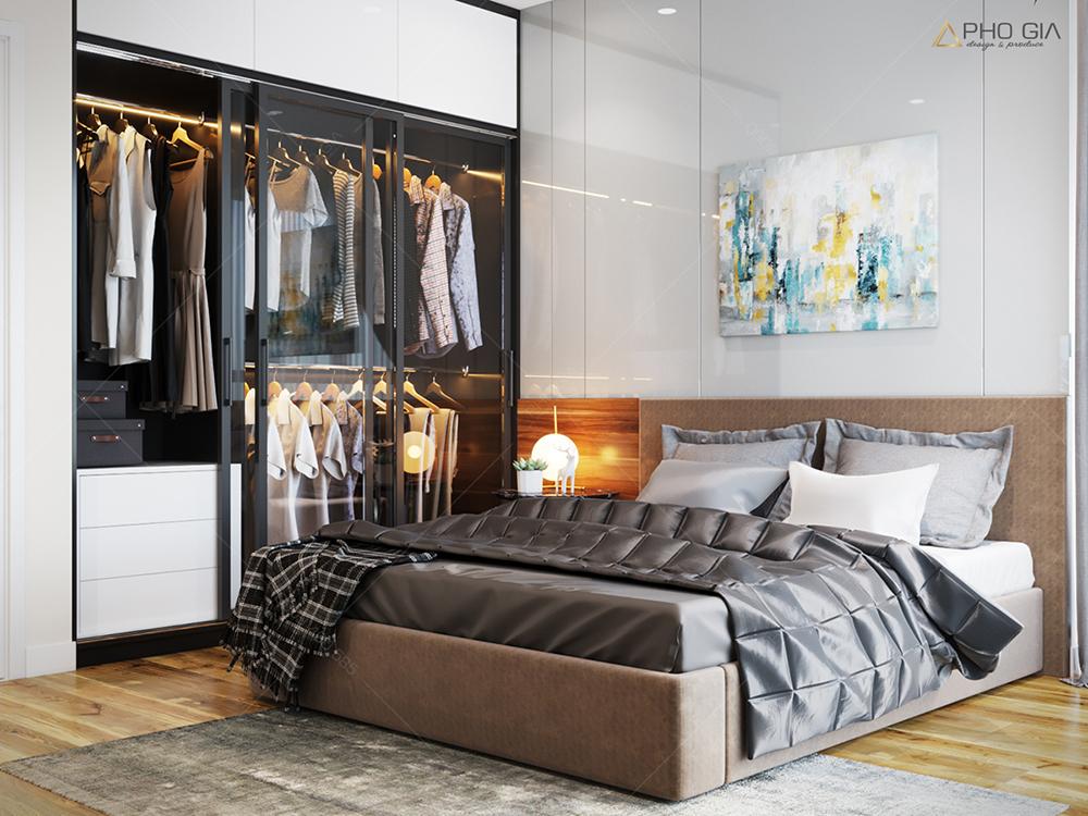 Thiết kế nội thất phòng ngủ nhỏcăn hộ chung cưXi Grand Court