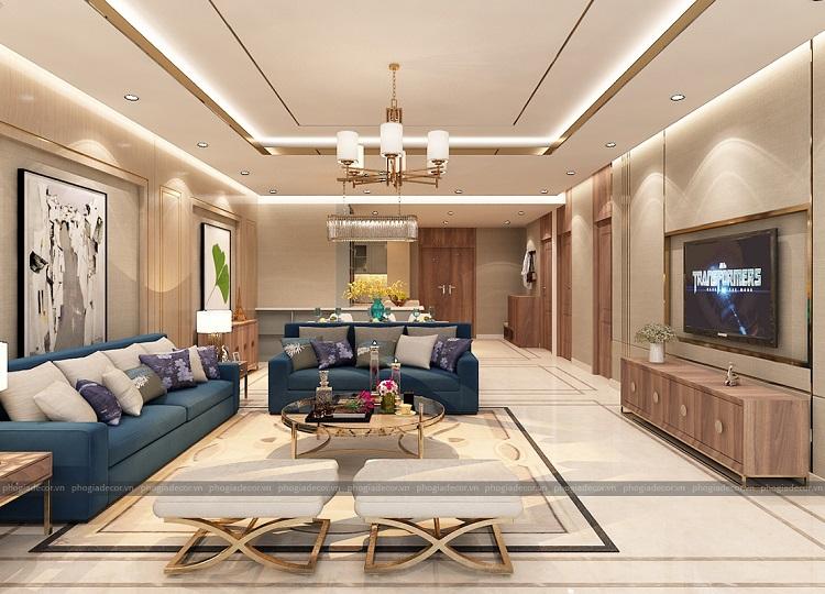 Nguyên tắc cho một thiết kế nội thất phòng khách chung cư Thoáng – Đẹp