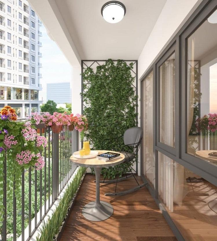 Bật mí cách thiết kế ban công chung cư nhỏ đẹp mắt