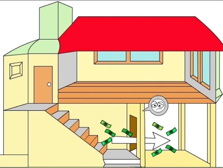 đặt cầu thang thẳng hàng với cửa chính khiến năng lượng vào nhà được đưa lên thẳng các tầng trên