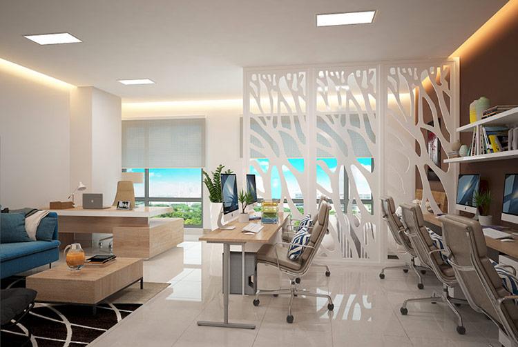 thiết kế nội thất của văn phòng officetel phải đảm bảo các yếu tố