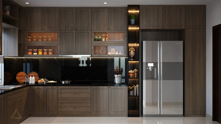 Những cách trang trí nội thất phòng bếp biệt thự cổ điển đẹp