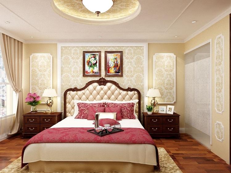 Những nguyên tắc thiết kế phòng ngủ biệt thự cổ điển Châu Âu đẹp