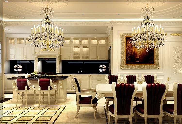 Những phong cách thiết kết nội thất phòng bếp biệt thự thịnh hành nhất