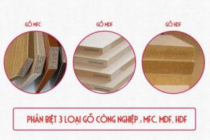 Gỗ nội thất công nghiệp MFC, MDF, HDF nên chọn loại nào?