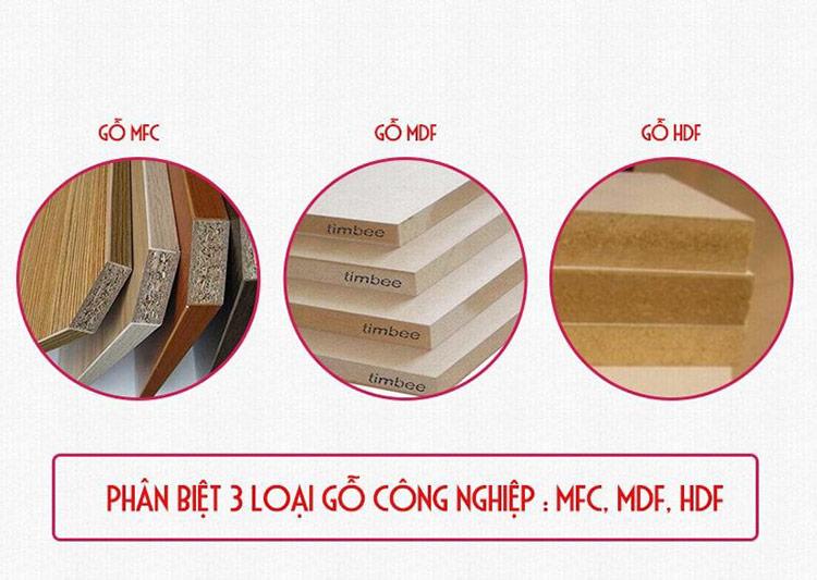 Ván nội thất công nghiệp MFC, MDF, HDF nên chọn loại nào?