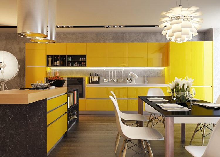 tân trang nhà bếp bằng việc sơn phủ màu cho chủ