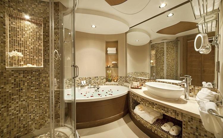 Top phong cách thiết kế nội thất phòng tắm biệt thự sang trọng bậc nhất hiện nay