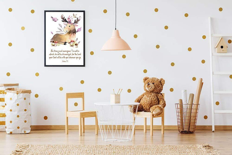 Phòng trẻ em phản ánh một khu rừng đầy mê hoặc hay cảnh trong một cuốn truyện tranh nào đó
