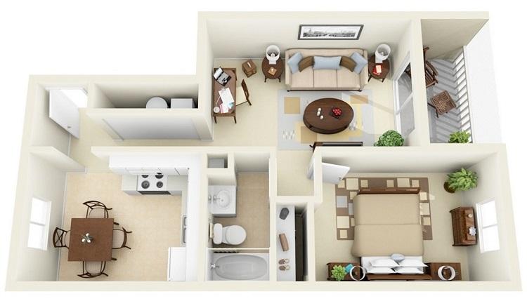 Bật mí những cách bố trí hài hòa khi thiết kế nội thất nhà cấp 4