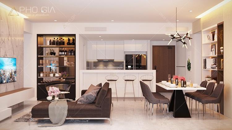 Top 10 mẫu thiết kế nội thất phòng ăn chung cư đẹp