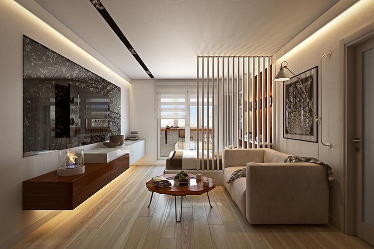 Cách thiết kế nội thất căn hộ hình ống đẹp