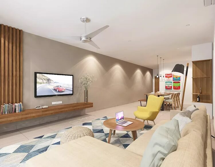 Thiết kế nội thất nhà hình ống: Những cách kết hợp phòng khách với phòng ăn đẹp