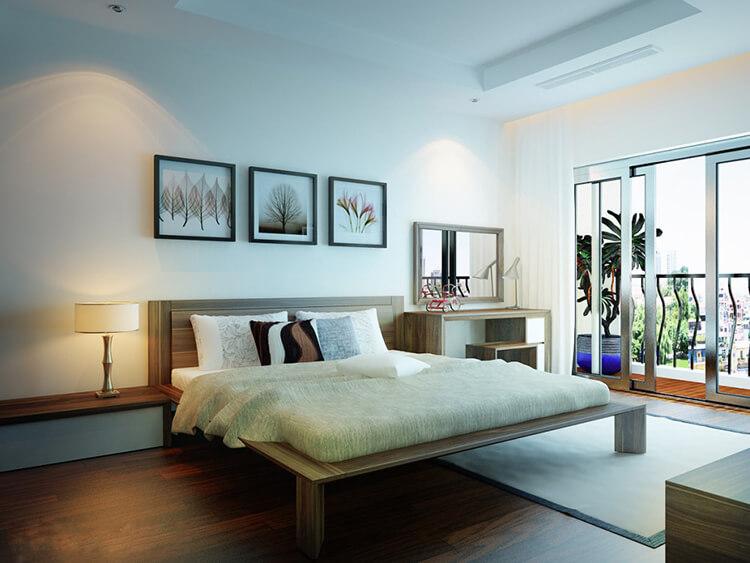 Bật mí cách tối ưu không gian khi thiết kế nội thất chung cư 2 phòng ngủ