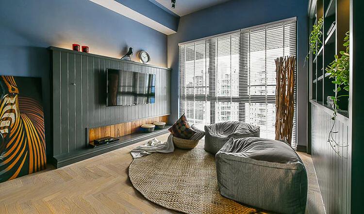 Mẫu thiết kế nội thất nhà cấp 4 đẹp với tông màu xám