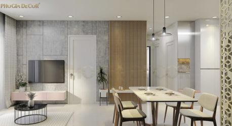 Thiết kế nội thất căn hộ Hà Đô CENTROSA phong cách Bắc Âu
