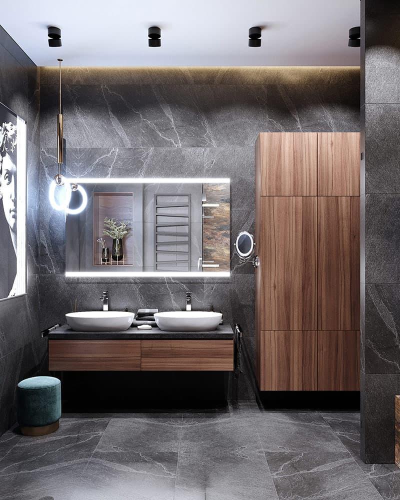 Phòng tắm hiện đại và sang trọng đầy đủ tiện nghi.