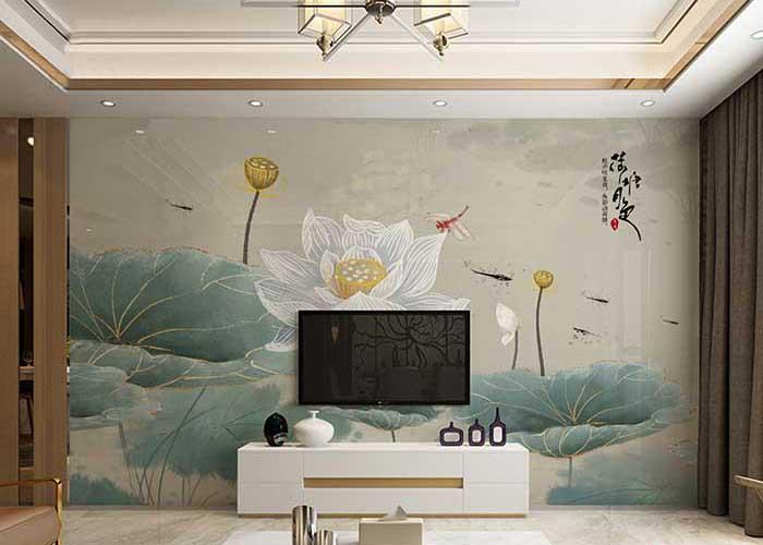 trang trí tường bằng tranh 3d