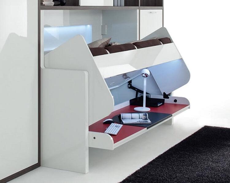 3 mẫu giường thông minh cho thiết kế nội thất chung cư 40m2