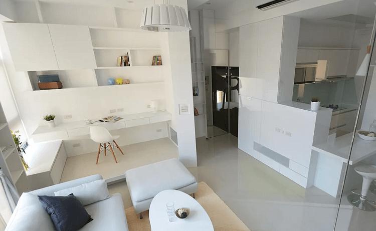 Bí kíp chọn tủ tiết kiệm không gian cho phòng khách nhỏ