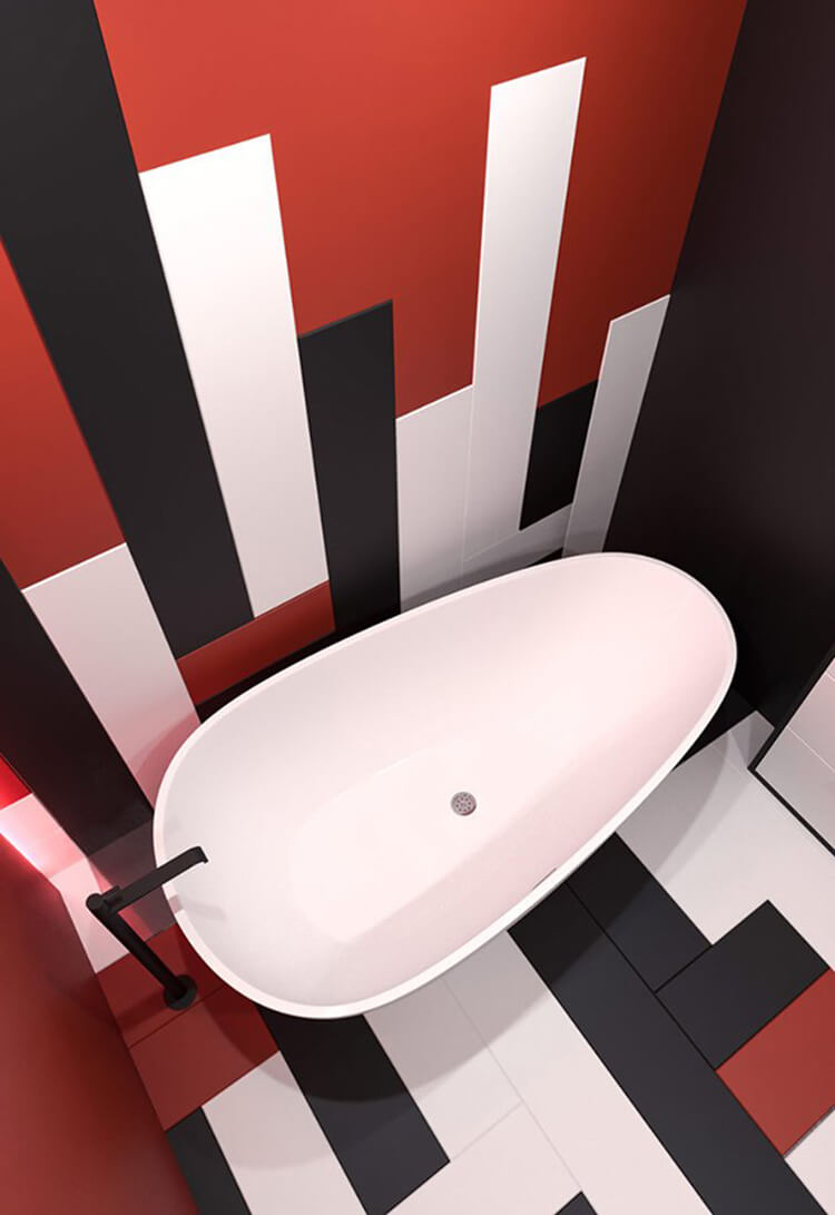 Cách dùng màu đỏ trong thiết kế nội thất