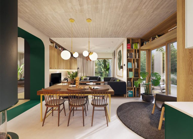 Combo phòng khách kết hợp phòng ăn: 12 không gian tuyệt vời để tham khảo( Phần I)