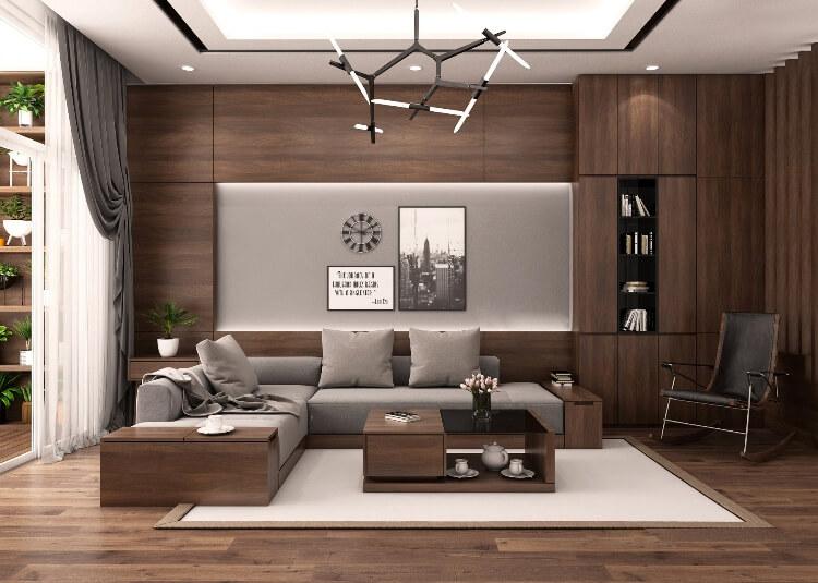 Xu hướng sử dụng tủ phòng khách bằng gỗ công nghiệp