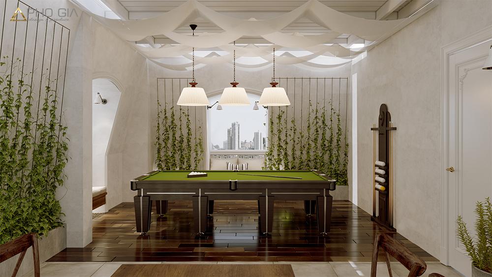 Thiết kế nội thất biệt thự victoria villagetầng trệt