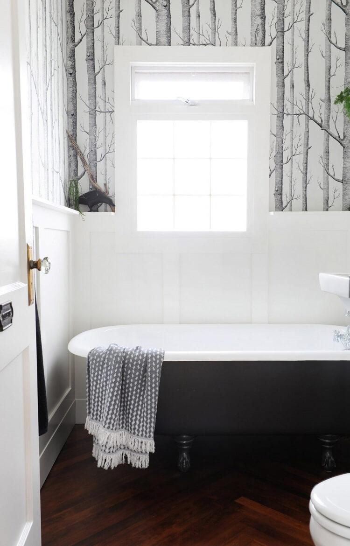 Những mẫu thiết kế nội thất phòng tắm đen trắng ấn tượng