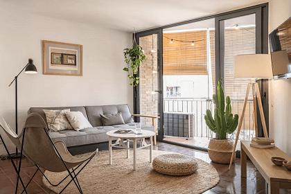 Kết hợp phong cách Rustic và Bắc Âu trong một thiết kế nội thất căn hộ 2 phòng ngủ 50m2