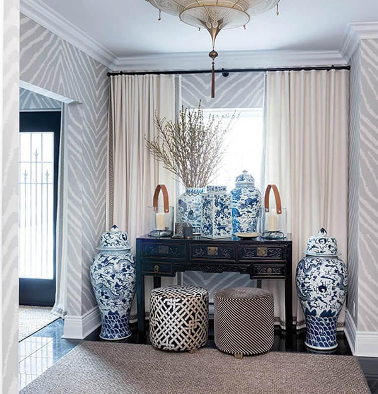 Thiết kế nội thất căn hộ thơ mộng như Chinoiserie