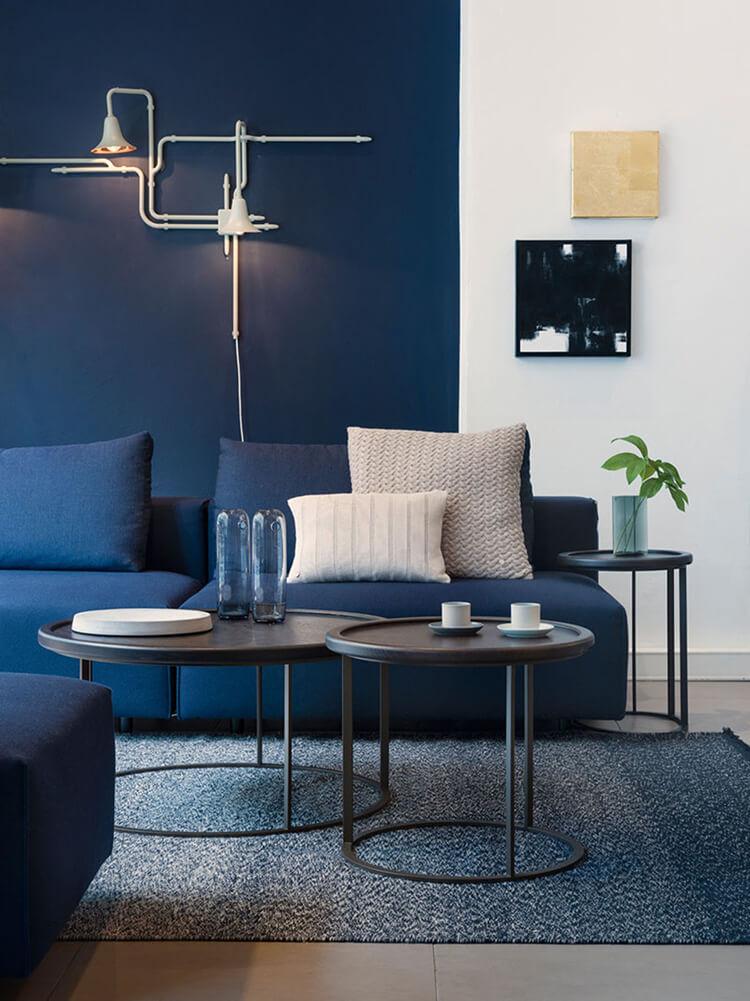 Thư giãn hoàn hảo với thiết kế nội thất căn hộ xanh navy
