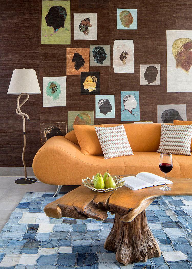 Khi vải jean đi vào thiết kế nội thất căn hộ đẹp