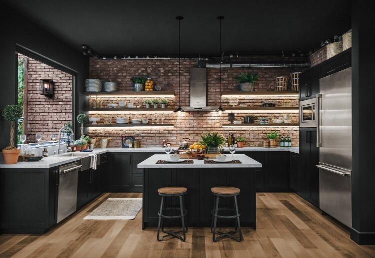 Mẫu thiết kế nội thất phòng bếp công nghiệp đẹp