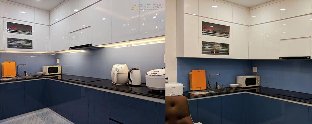 vật liệu acrylic ứng dụng cho tủ bếp
