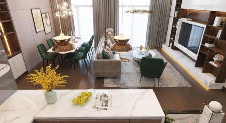 Thiết kế nội thất căn hộ botanica hiện đại 100m2